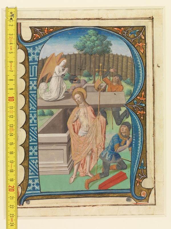 PARIS, Bibliothèque de l'Ecole des Beaux-Arts, Mn.Mas 0142, vue 1 avec réglet