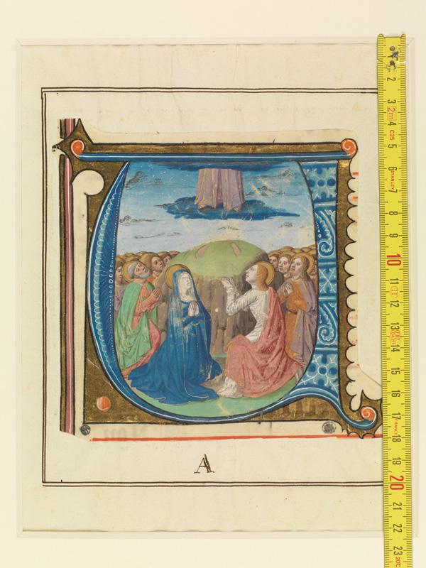 PARIS, Bibliothèque de l'Ecole des Beaux-Arts, Mn.Mas 0143, vue 1 avec réglet