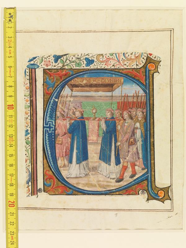 PARIS, Bibliothèque de l'Ecole des Beaux-Arts, Mn.Mas 0144, vue 1 avec réglet