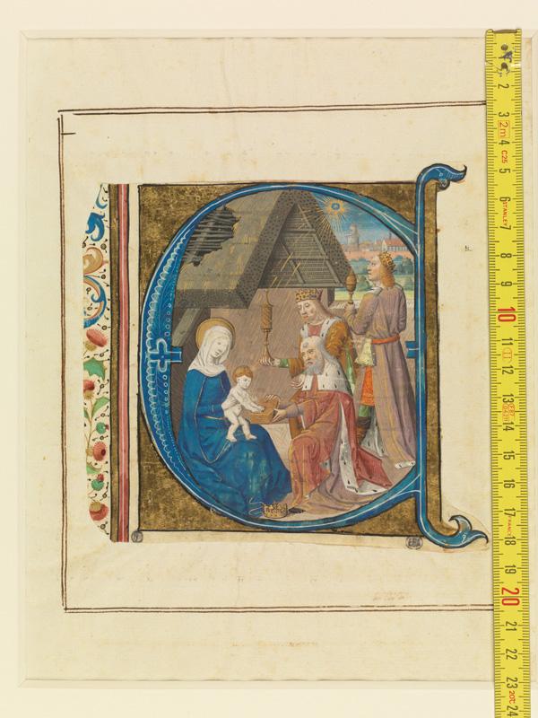 PARIS, Bibliothèque de l'Ecole des Beaux-Arts, Mn.Mas 0146, vue 1 avec réglet