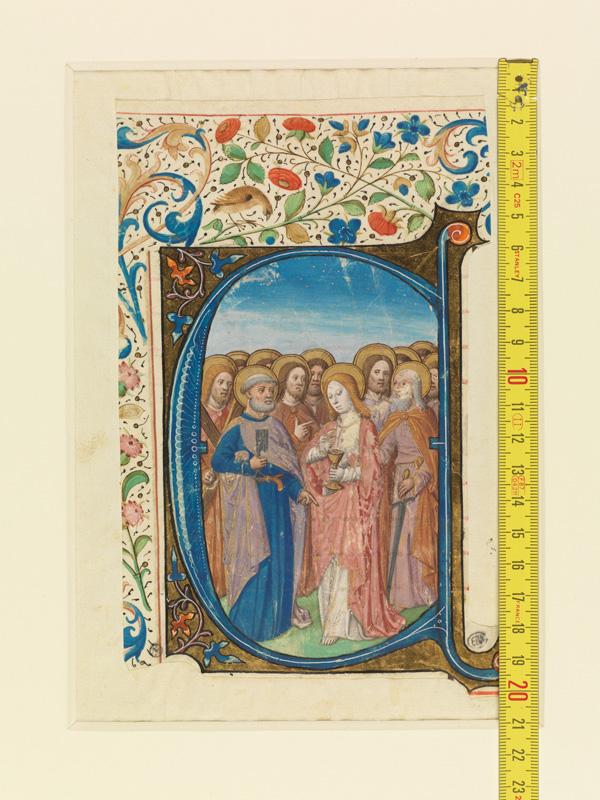 PARIS, Bibliothèque de l'Ecole des Beaux-Arts, Mn.Mas 0147, vue 1 avec réglet