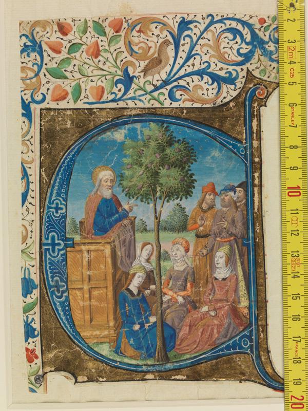 PARIS, Bibliothèque de l'Ecole des Beaux-Arts, Mn.Mas 0148, vue 1 avec réglet