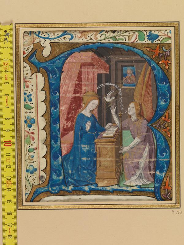 PARIS, Bibliothèque de l'Ecole des Beaux-Arts, Mn.Mas 0153, vue 1 avec réglet