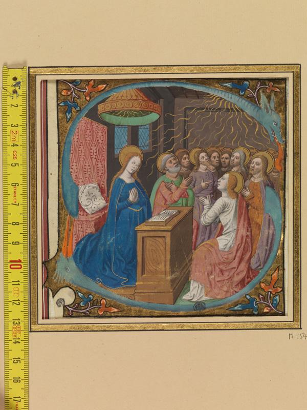 PARIS, Bibliothèque de l'Ecole des Beaux-Arts, Mn.Mas 0154, vue 1 avec réglet