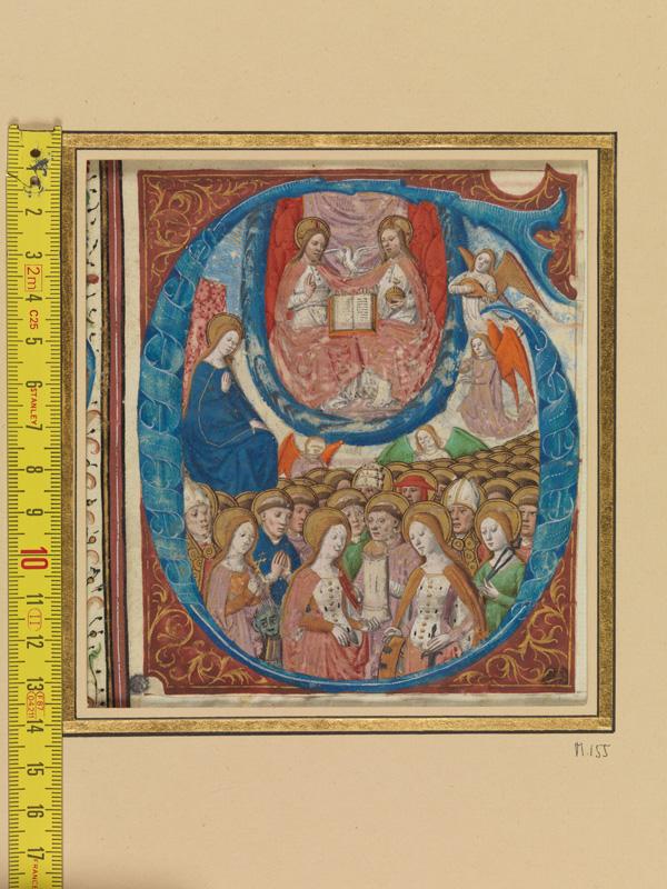 PARIS, Bibliothèque de l'Ecole des Beaux-Arts, Mn.Mas 0155, vue 1 avec réglet