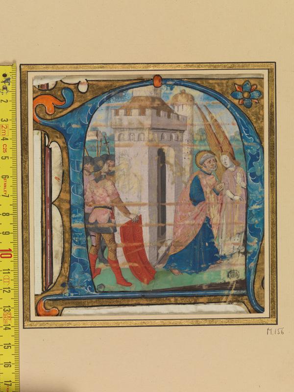 PARIS, Bibliothèque de l'Ecole des Beaux-Arts, Mn.Mas 0156, vue 1 avec réglet