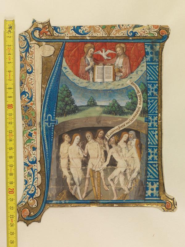 PARIS, Bibliothèque de l'Ecole des Beaux-Arts, Mn.Mas 0163, vue 1 avec réglet