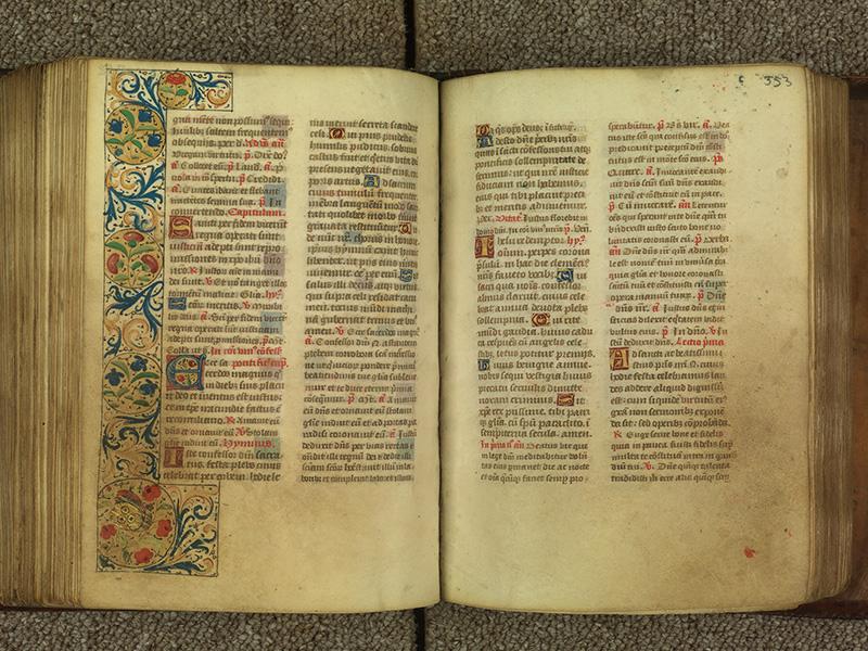 PARIS, Bibliothèque de l'Ecole des Beaux-Arts, Ms.Mas 0010, f. 352v - 353