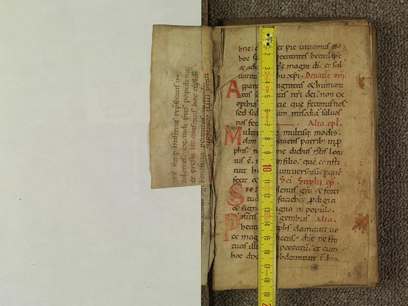 PARIS, Bibliothèque de l'Ecole des Beaux-Arts, Ms.Mas 0011, feuillet ajouté verso - 001 avec réglet