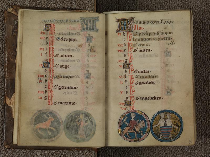 PARIS, Bibliothèque de l'Ecole des Beaux-Arts, Ms.Mas 0015, f. 004v - 005