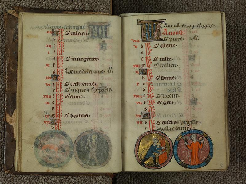 PARIS, Bibliothèque de l'Ecole des Beaux-Arts, Ms.Mas 0015, f. 007v - 008