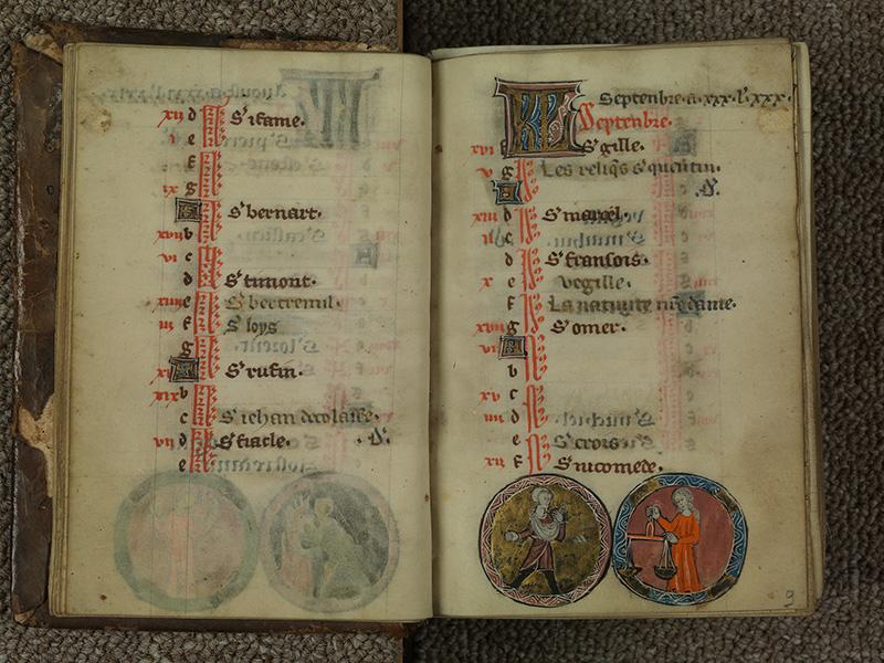 PARIS, Bibliothèque de l'Ecole des Beaux-Arts, Ms.Mas 0015, f. 008v - 009