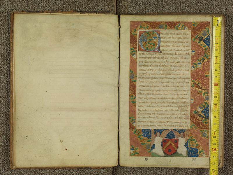 PARIS, Bibliothèque de l'Ecole des Beaux-Arts, Ms.Mas 0039, f. 000Av - 001 avec réglet