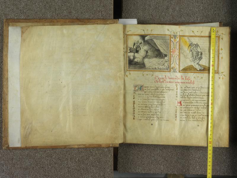 PARIS, Bibliothèque de l'Ecole des Beaux-Arts, Ms.Mas 0081, f. 000Av - 001 avec réglet