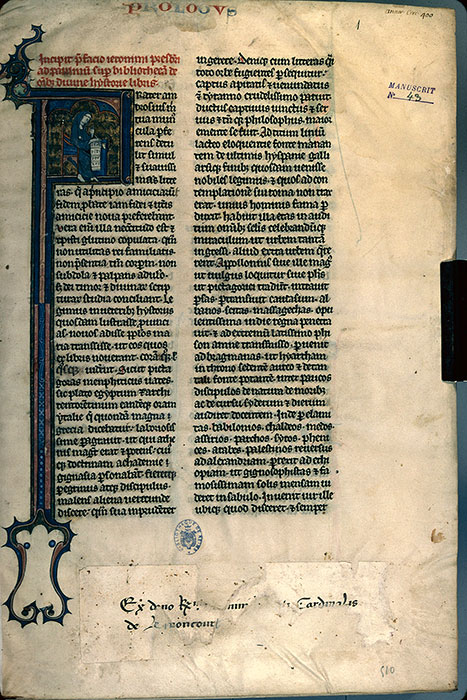 Reims, Bibl. mun., ms. 0043, f. 001 - vue 1
