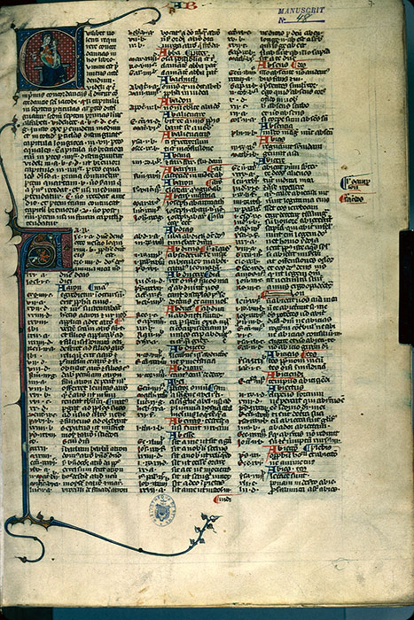 Reims, Bibl. mun., ms. 0048, f. 001 - vue 1