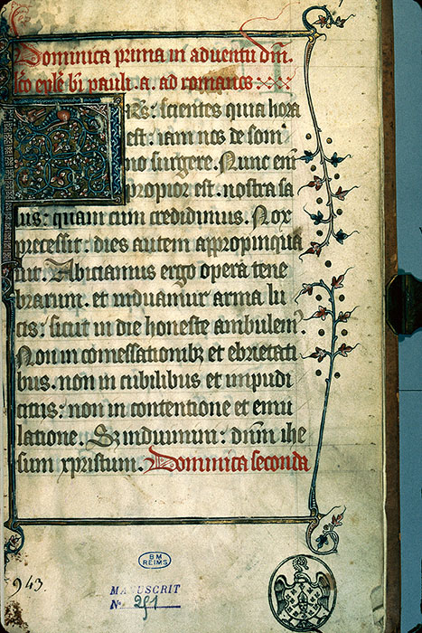 Reims, Bibl. mun., ms. 0251, f. 001