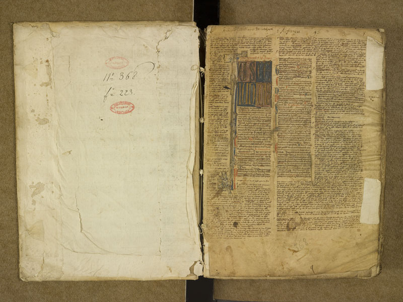 TOULOUSE, Bibliothèque municipale, 0368, contreplat supérieur - f. 001