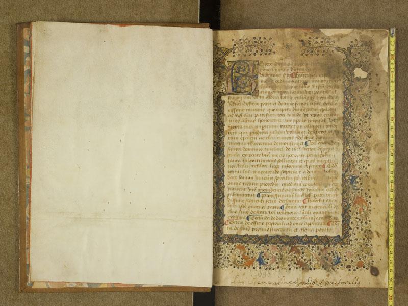 TOULOUSE, Bibliothèque municipale, 0393, f. 000Av - 001 avec réglet