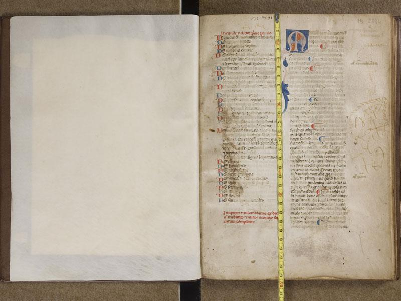 TOULOUSE, Bibliothèque municipale, 2844, contregarde - f. 001 avec réglet