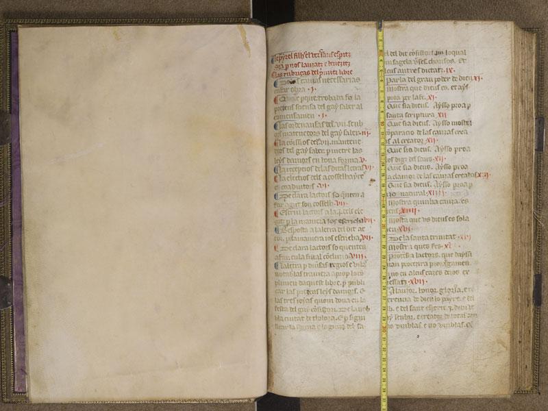 TOULOUSE, Bibliothèque municipale, 2883, f. 000Av - 001 avec réglet