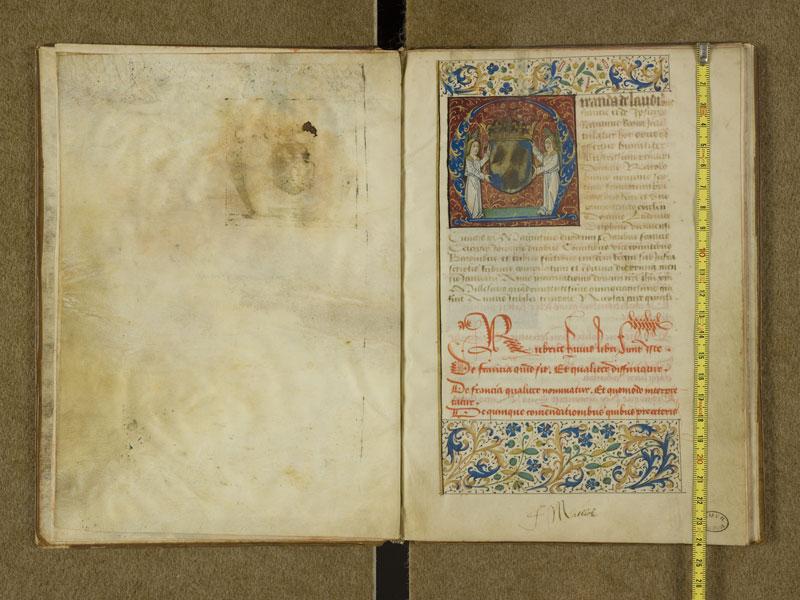 TOULOUSE, Bibliothèque municipale, 2995, f. 000B - 001 avec réglet